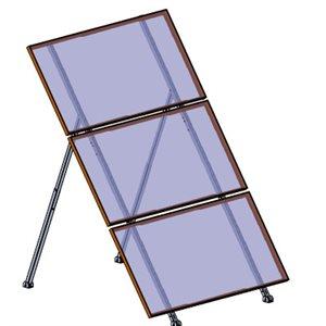 Support ajustable pour 3 panneaux solaires de 72 cellules et moins
