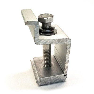 Attache pour extrémités de panneaux - 40 mm