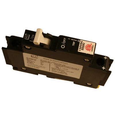 Disjoncteur 10A 150Vcc pour rail DIN
